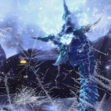 Boss fight 3D camera move, 2D frost overlay. Produced by ARENANET.